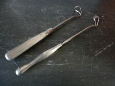 Antique Medical Instrument Surgical Retractor Set 2 Nickel Plate Late 19th Cent