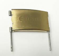 Rado Gold Tone Clasp For Parts or Repair Clasp 01750 with Attachment Bars Clasp