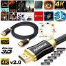 PREMIUM HDMI 4K 1M/2M/4M/5M/10M/15M/20M Cable 2.0V HD High Speed 2160p 3D Lead
