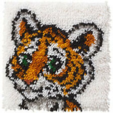 Tiger Cub Latch Hook Kit 30x30cm par Caron WonderArt Aucun Outil Inclus
