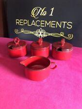 Villeroy & Boch Granada Red 2 Preserve Pots Jug And Sugar Bowl 4 Items