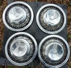 "1953 54 55 56 57 58 Studebaker Wire Wheels Covers & Hubcaps Set of 4 15"" OEM"