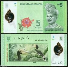 Malaysia - 5 Ringgits - UNC polymer currency note - 2012 issue