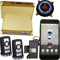 smart phone app long distance remote start car alarm hopping code security