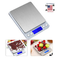Digital Scale Kitchen 2000g/0.1g Precision Weight LCD Jewelry Food Balance Tool