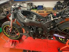 Kawasaki Zx6r P8f 07 08 Oem Main Frame 58 Plate Hpi Clear With Carbon Guards