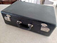 Antique Belber Suitcase w Doll Clothes Lot, Vintage Handmade Collector's Estate