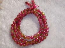 Very beautiful natural watermelon tourmaline crystal bracelet 32 g 6 mm