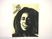 VECCHIO ADESIVO ORIGINALE anni '80 / Old Original Sticker BOB MARLEY (cm 12x15)