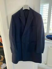 """Hammond & Co Patrick Grant Navy Wool Double Breasted Overcoat (44"""")"""