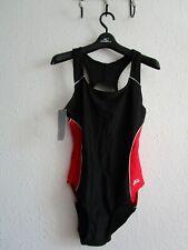 SLAZENGER RACER BACK SWIMSUIT black / red size 12 BNWT RRP £22.99