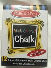 *NEW* Melissa And Doug 12 Multicolored Chalk Sticks - Great For Chalkboards!
