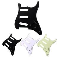 3Ply SSS 11 Holes PVC Stratocaster Guitar Pickguard for FD Strat Electric Guitar