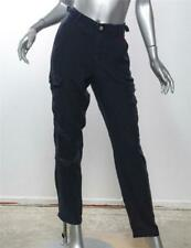 DA-NANG Womens Navy Blue Embroidered Silk Cargo Pants NEW w/ TAGS S