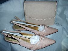 JACQUES VERT  (COOKIE RANGE) BEIGE SHOES EU 37. UK 4 & MATCHING BAG