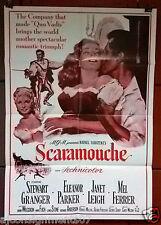 "Scaramouche {STEWART GRANGER} 40x27"" Original Lebanese Movie Poster R80s?"
