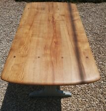 PAINTED SOLID OAK ERCOL REFECTORY KITCHEN/DINING TABLE  MIZZLE FARROW & BALL