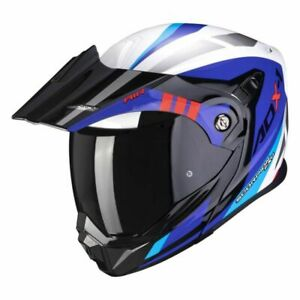 SCORPION ADX-1 LONTANO WHT/RED/BL MOTORCYCLE HELMET LARGE