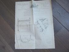 GRAVURE 1874 PONT ANTIQUE DE SAINT-CHAMAS PROVENCE