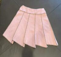 Beebop & Wally New York Asymmetrical Skirt Pink Acrylic Knit Size XS