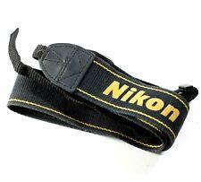 Cámara de tejido original Nikon Correa para el cuello/correa para el Hombro-Negro y Amarillo