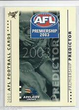 2003 Select XL Premiership Predictor (PC1) ADELAIDE