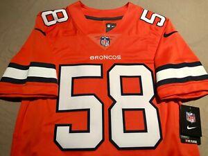 Denver Broncos Von Miller Nike Men's Color Rush Vapor Limited NFL Jersey Size S