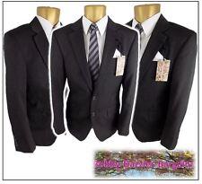 """M&S mens SLIM FIT 2 piece suit Ch38S"""" W32R"""" L29"""" Charcoal Pinstripe Washable"""