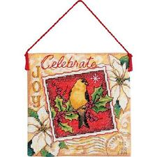 Counted Cross Stitch Kit JOY ORNAMENT Dimensions Gold Collection