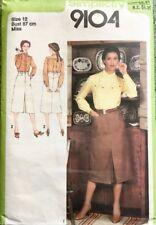 Simplicity 9104 70s Vintage Pattern Misses Western Shirt & Skirt Sz 12 87cm Bust