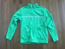 Used Men Neon Green NIKE THERMA FIT Fleece Shirt Medium