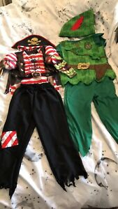 Boys Fancy Dress Peter Pan 3-4 And Pirate 2-3