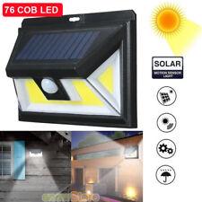 COB 76-Led Solar Powered Street Light Pir Motion Sensor Wall Lamp Garden Outdoor