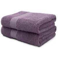 2-Piece Bath Towels Set for Bathroom | 100% Soft Cotton Turkish Towels - Plum
