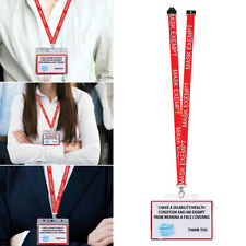 Mask Exemption Card ID Holder Face Covering Exempt Asthma Disability Lanyard
