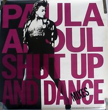Rare Paula Abdul Shut Up And Dance 1990 Vintage Music Record Store Promo Poster