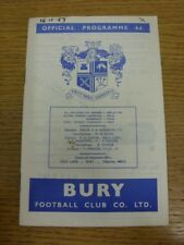 16/11/1963 Bury v Southampton  (Small Marks, Date Wrote In Felt pen On Top On Co