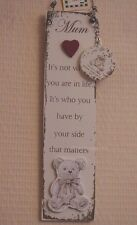 Wall Plaque With Keyring It's Not Where You Are In Life Its Sign Teddy  F1388B