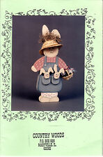 "1992 Country Woods Woodcrafting Pattern # 204 ""Pocket Bunny"""