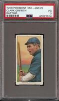 Rare 1909-11 T206 HOF Clark Griffith Batting Piedmont 350-460 PSA 3 VG