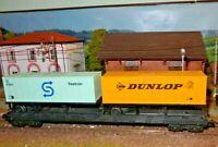 """LIMA carro porta semirimorchi """"Dunlop"""" e """"Seatrain"""" HO 1:87"""