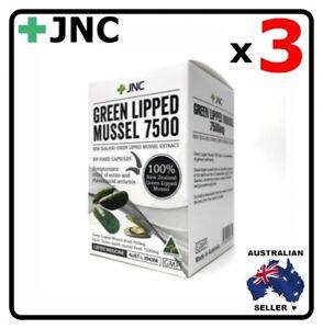 3 x JNC New Zealand Green Lipped Mussel 7500 mg 300 capsules