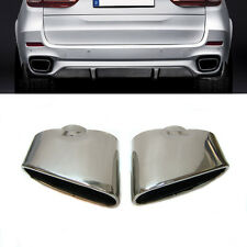 Double Sport Chrome Exhaust End Pipe Muffler Tip Stainless Steel Fits Bmw X5 E70