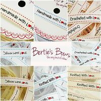 Bertie's Bows 'With Love' Sewing Labels - Handmade, Crocheted, Sewn, Knitted