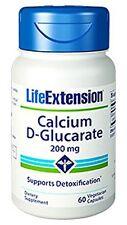 LIFE Extension CALCIO d-glucarate 200 mg x 60 Capsule Per Disintossicazione