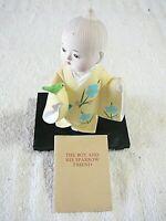"Hakata 1970's Doll, ""THE BOY AND HIS SPARROW FRIEND"", Japanese Hakata Assoc."