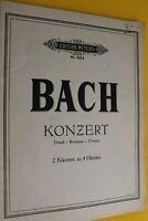 BACH, Konzert, D-Moll, 2 Klaviere zu 4 Händen