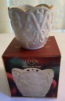 "Lenox American by Design Merry Lights 3.5"" Santa Tea Light Votive - NEW IN BOX"