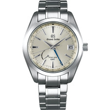 NEW! GRAND SEIKO SBGE205 Spring Drive GMT Steel Watch