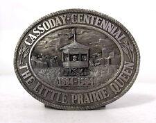 Cassoday Kansas Centennial Belt Buckle - Little Prairie Queen - Flint Hills KS